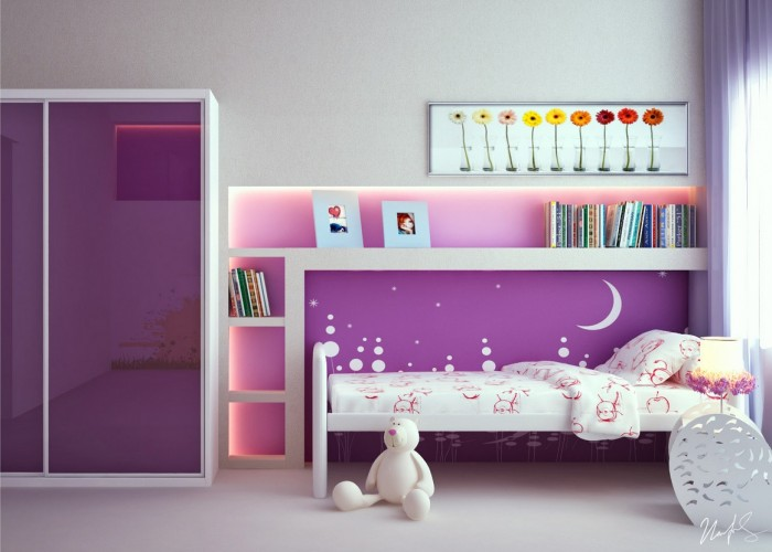 decoracion cuarto de niña sencillo
