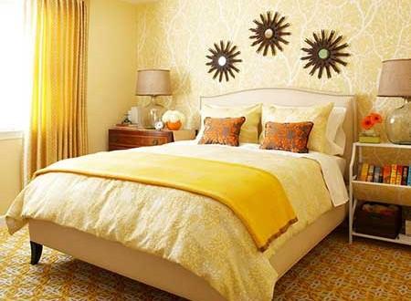 Decoracion dormitorios en amarillo hoy lowcost - Decoracion en amarillo ...