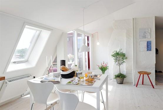 decoracion espacios pequeños en blanco