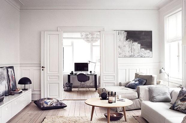 decoracion estilo rustico en blanco