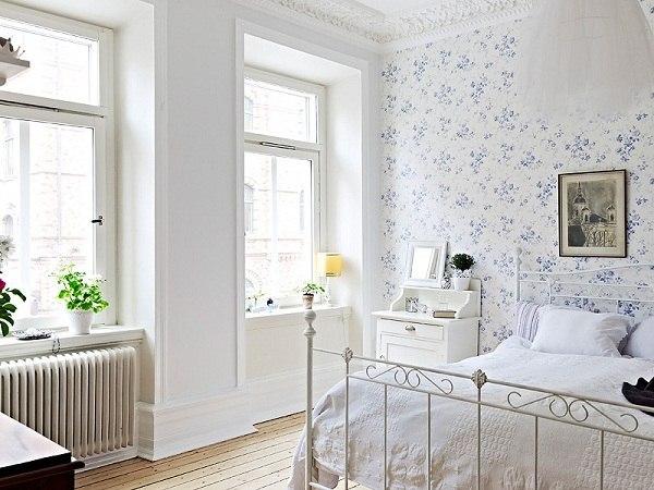 decoracion estilo vintage en blanco
