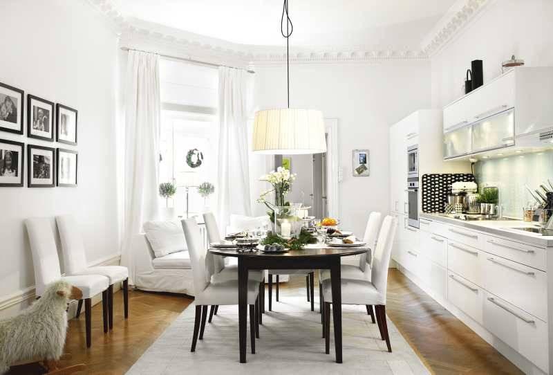 decoracion interiores pequeños en blanco