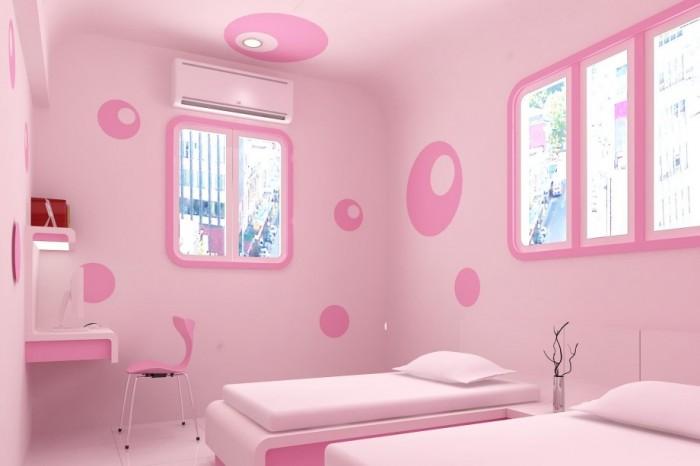 decoracion minimalista dormitorio niñas