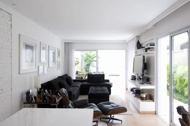 decoracion negro sobre blanco espacios pequeños