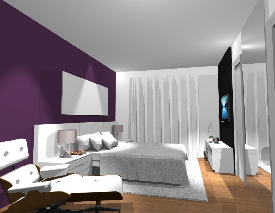 decoracion paredes dormitorio gran contraste