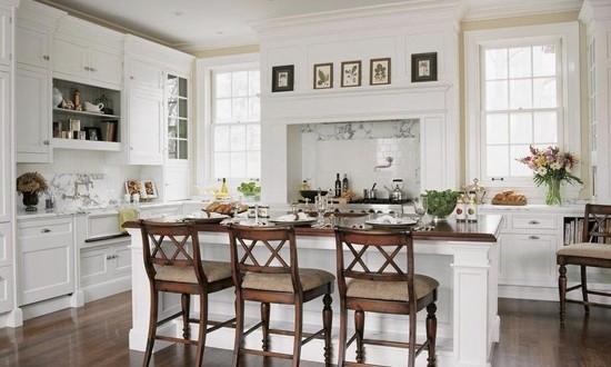 Decoracion rustica en cocina blanca hoy lowcost - Cocina rustica blanca ...