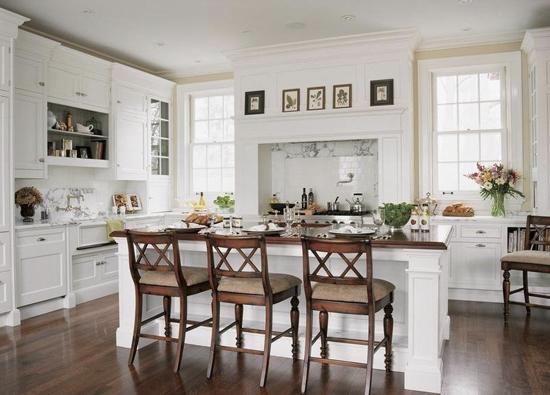 decoracion rustica en cocina blanca
