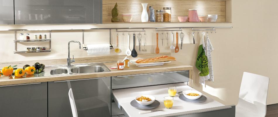 Cocinas modernas peque as estilos y dise os hoy lowcost - Cenefas modernas para cocina ...
