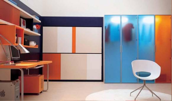 diseño camas niños abatibles espacios pequeños