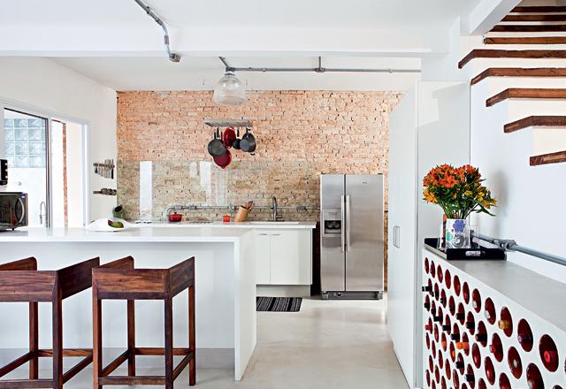 diseño cocina integrada combinando estilos