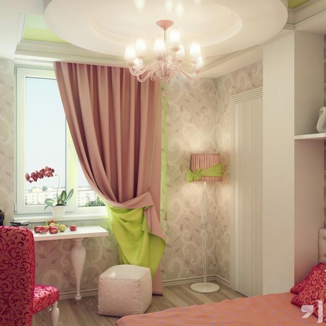 diseño cortinas para habitaciones niñas
