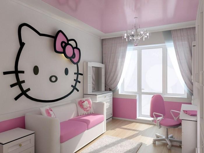 diseño de pared para dormitorios de niñas