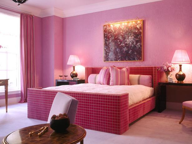 diseo dormitorio en rosa