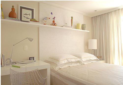 diseño dormitorio pequeño en blanco