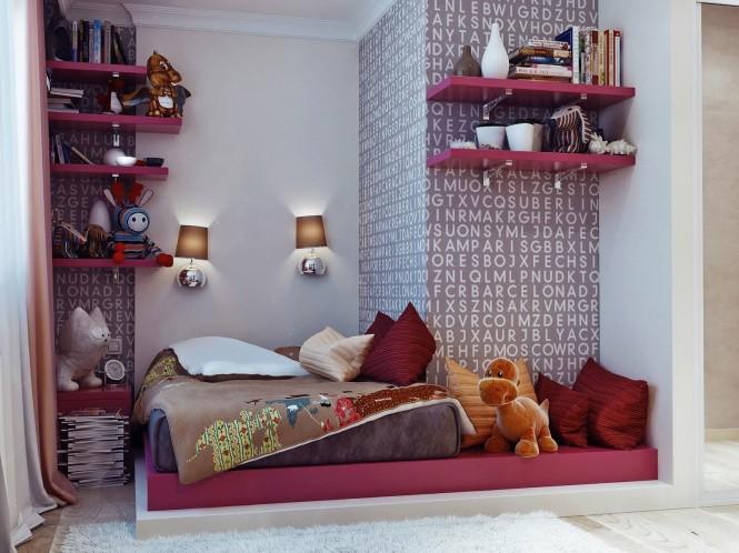 diseño paredes para dormitorios juveniles