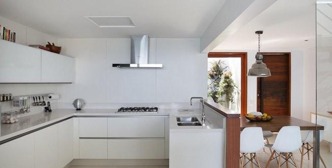 dise o piso peque o cocina integrada minimalista hoy lowcost