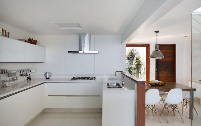 diseño piso pequeño cocina integrada minimalista