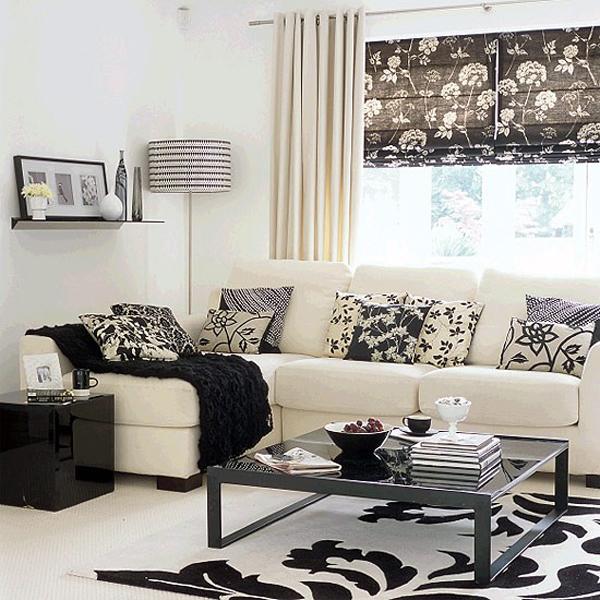 Como decorar una casa peque a con poco dinero hoy lowcost - Dormitorios blanco y negro ...