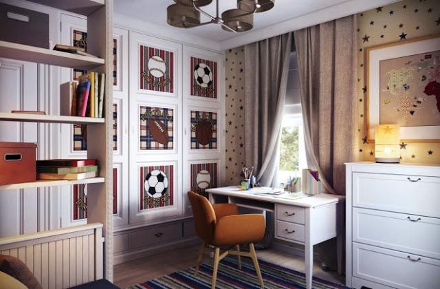dormitorio estilo clasico para niño