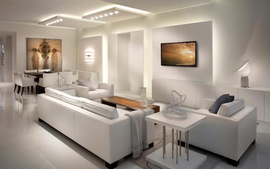 estilo minimalista en blanco
