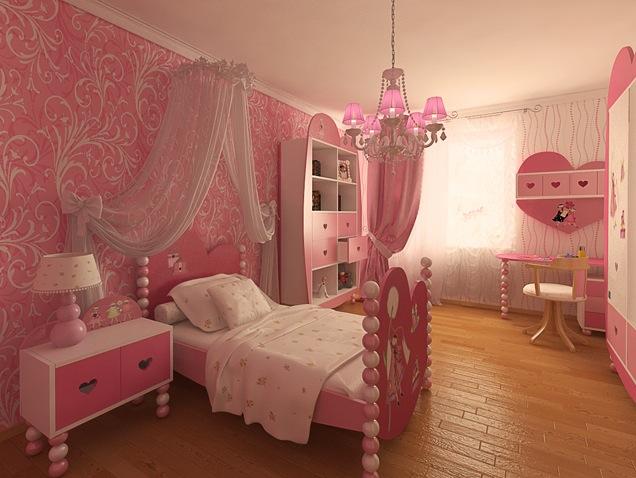 estilo romantico para cuartos de niñas