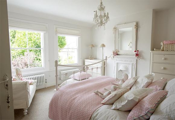 estilo vintage dormitorio blanco