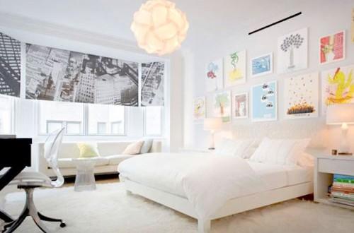 Habitacion principal decorada en blanco hoy lowcost for Diseno de habitacion principal pequena