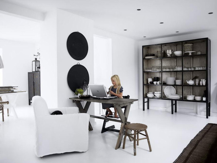 loft en color blanco