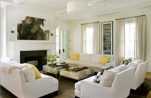 muebles de salon blancos para espacios pequeños