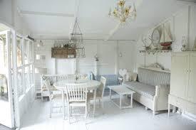 muebles rusticos blancos para terraza