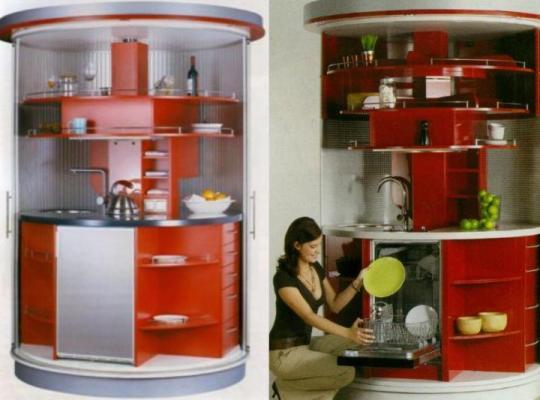 Cocinas modernas peque as estilos y dise os hoy lowcost for Cocinas en espacios chicos