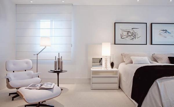 paredes blancas en dormitorios matrimoniales