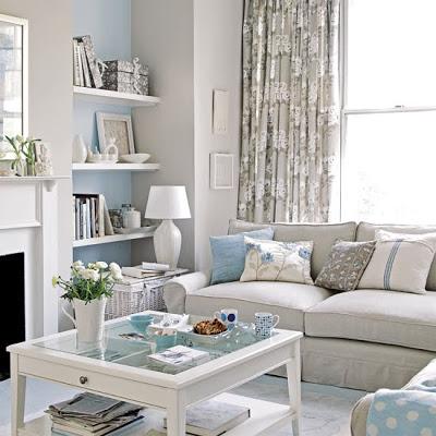 pequeño salon decoracion en blanco