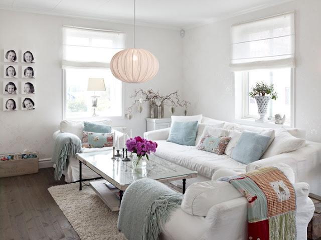 pequeño salon en color blanco