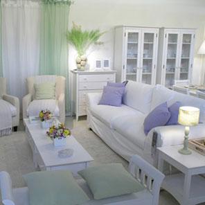 sala estilo vintage en blanco