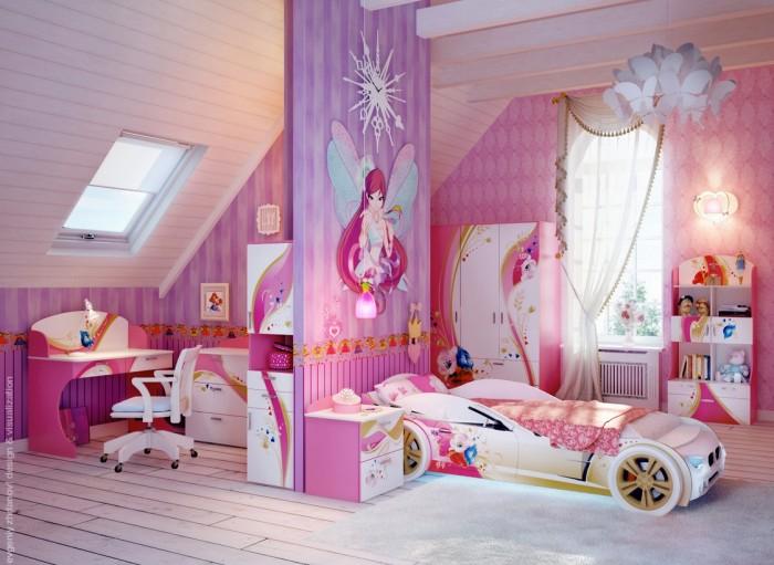 separacion ambientes habitaciones de niñas