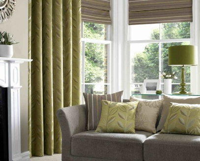 combinado de estores y cortinas modernas