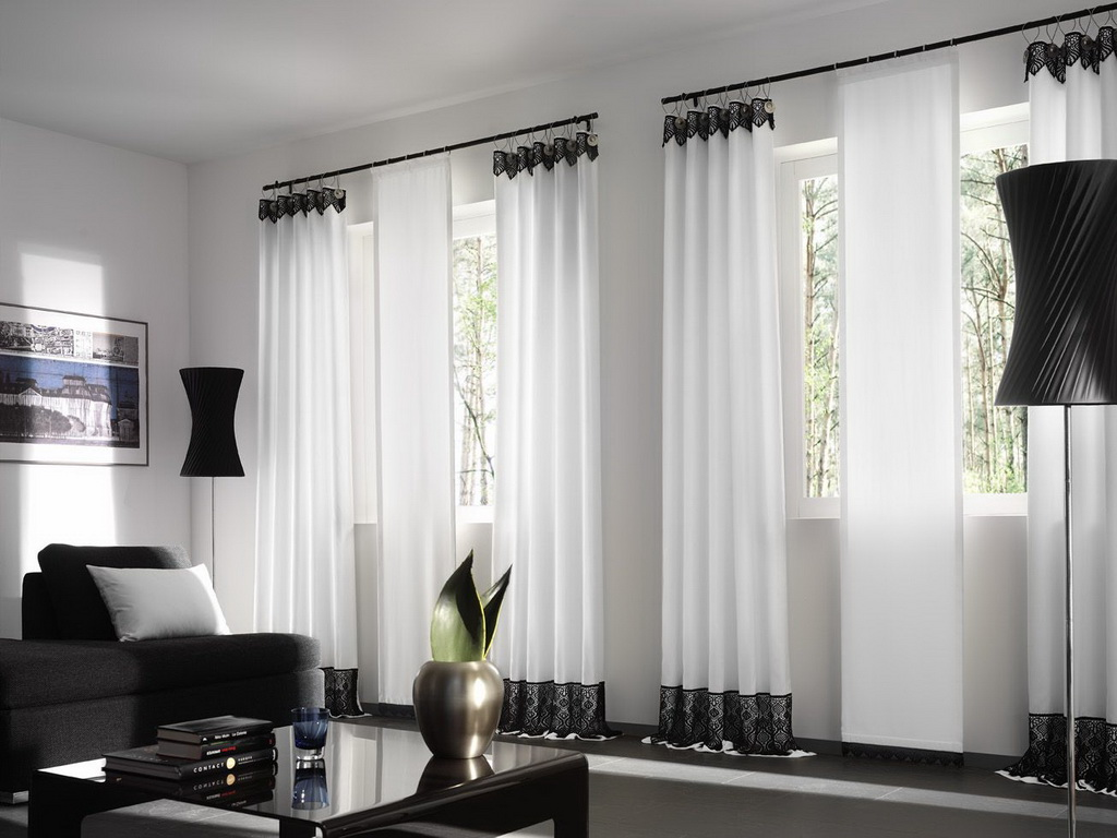 modelos de cortinas modernas 2018 hoy lowcost. Black Bedroom Furniture Sets. Home Design Ideas