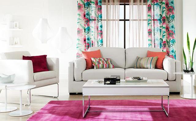 Cortinas colores estampados para decoracion salones hoy - Decoracion salones cortinas ...