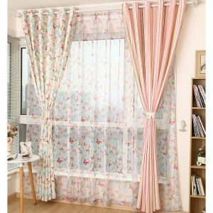 cortinas flores y rallas para decoracion salones - copia