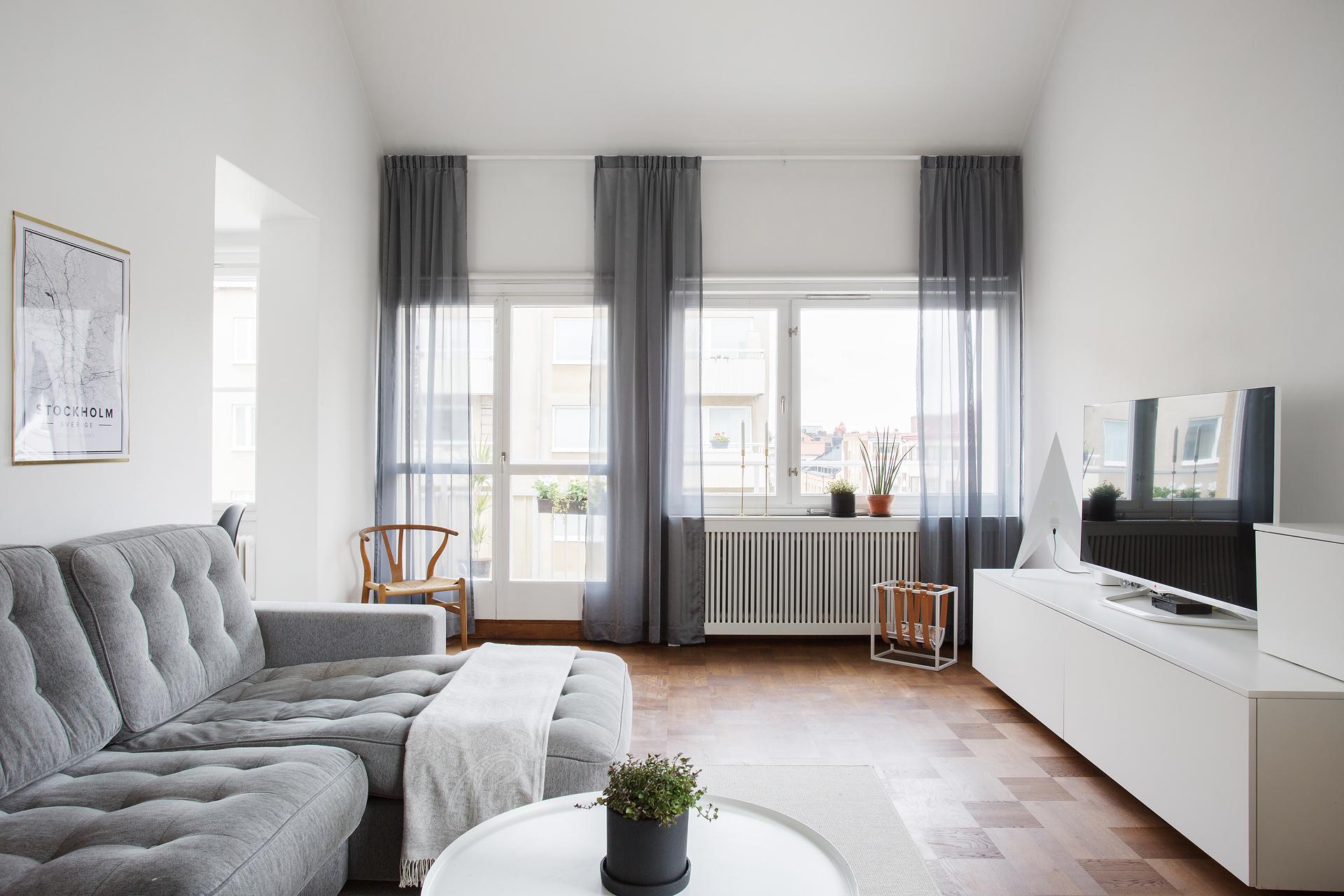 espacios pequeños cortinas modernas
