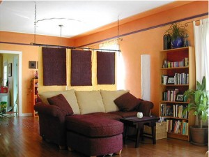cortinas separadoras loft rustico - copia