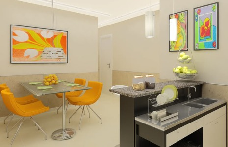 diseño ambientes pequeños cocina comedor