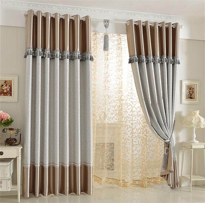 Cortinas De Baño Dobles:Window Curtain Decoration