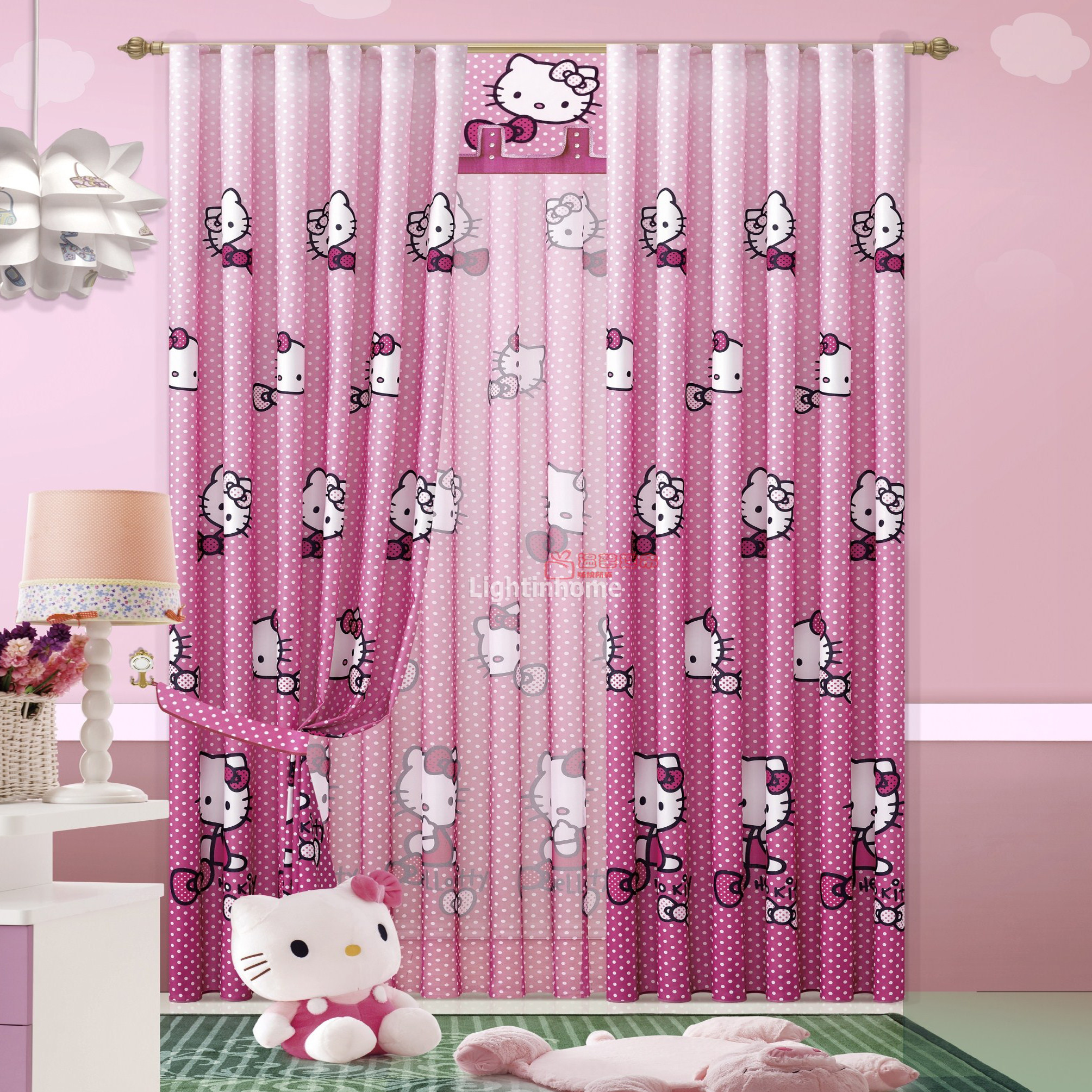 Dise o cortinas habitaciones de ni as copia hoy lowcost - Cortinas para bebes nina ...