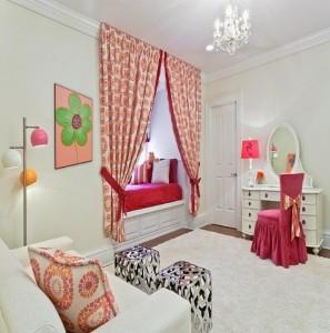 diseño dormitorios individuales con cortinas 2015 - copia