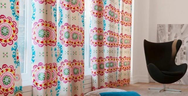Dise o retro cortinas para salon copia hoy lowcost - Disenos de cortinas para salones ...