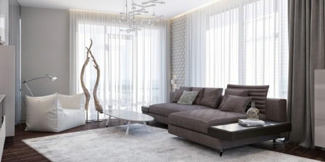 Dise o salon con decoracion cortinas copia hoy lowcost - Disenos de cortinas para salones ...