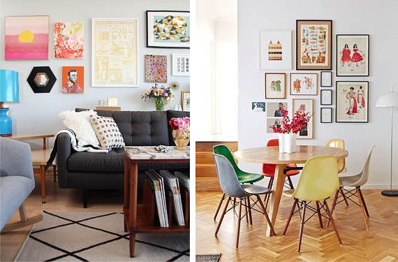 diseños paredes con cuadros o galeria de fotos