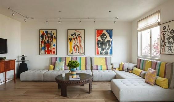 Estores decoracion salones modernos copia hoy lowcost for Estores salon decoracion